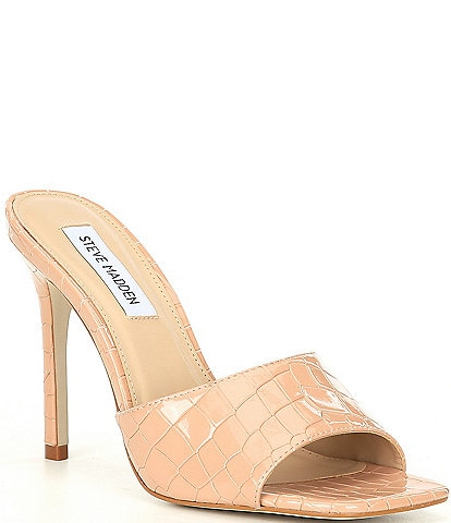 Steve Madden Signal Croco-Embossed Dress Mules