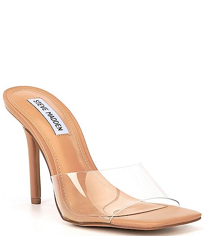 Steve Madden Signal Square Toe Clear Dress Mules
