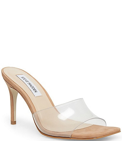 Steve Madden Avoid Square Toe Clear Slide Mules