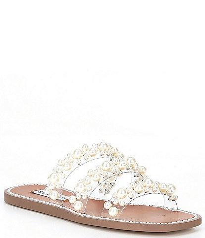Steve Madden Taye Pearl Embellished Sandals