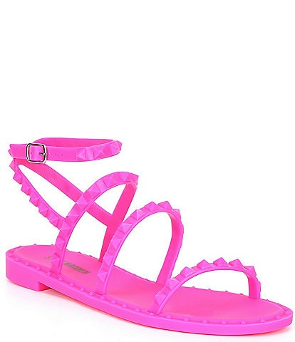 Steve Madden Travel-J Tonal Studded Jelly Sandals