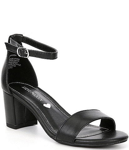 Steve Madden Tween Girls' J-Carrson Block Heel Dress Sandals (Youth)
