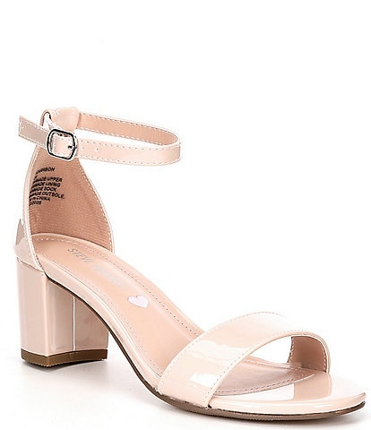 Steve Madden Tween Girls' J-Carrson Patent Block Heel Dress Sandals (Youth)