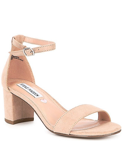 Steve Madden Tween Girls' J-Carrson Microsuede Block Heel Dress Sandals (Youth)