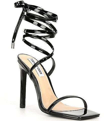 Steve Madden Uplift Square Toe Patent Dress Sandals