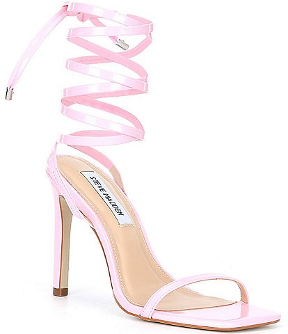 Steve Madden Uplift Square Toe Patent Dress Sandals
