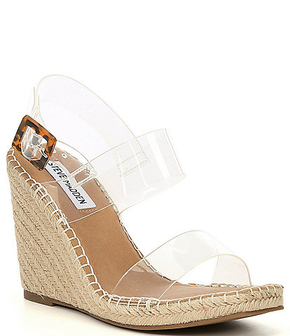 Steve Madden Uri Clear Espadrille Wedge Sandals