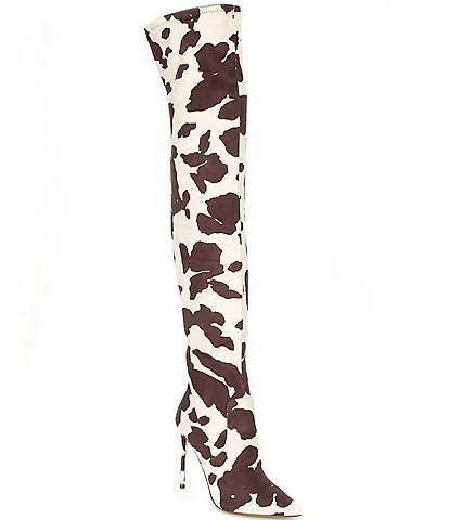 Steve Madden Viktory Cow Print Over-the-Knee Boots