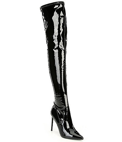 Steve Madden Viktory Patent Over-the-Knee Boots