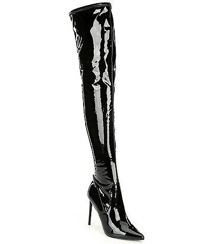 Steve Madden Viktory Patent Over-the-Knee Boots