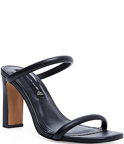 Steven New York Jacee Leather Banded Square Toe Sandals