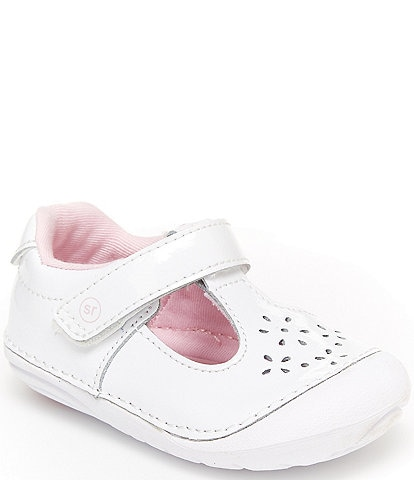 Stride Rite Girls' Amalie Leather Soft Motion T-Strap Shoes Infant