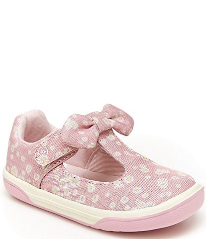 Stride Rite Girls' Catalina SR T-Strap Mary Jane Sneakers (Infant)