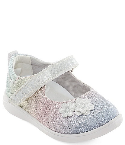 Stride Rite Girl's Holly SR Adapt Flower Sparkle Mary Janes (Youth)