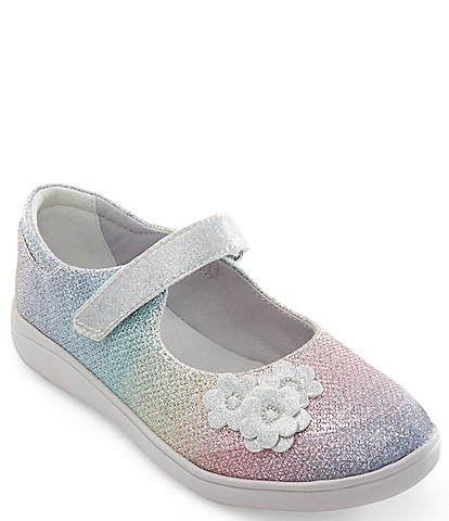 Stride Rite Girl's Holly SR Flower Detail Sparkle Mary Janes (Youth)