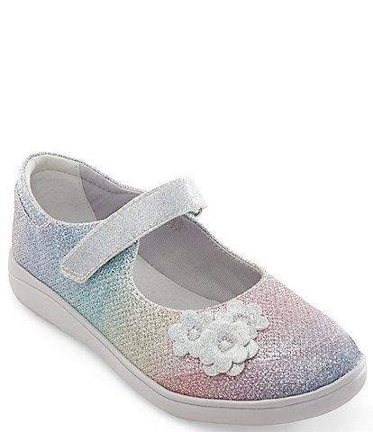Stride Rite Girl's Holly SR Sparkle Flower Detail Mary Janes (Toddler)