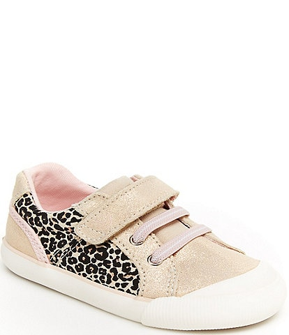 Stride Rite Girls' Parker SR Leopard Sneakers Infant