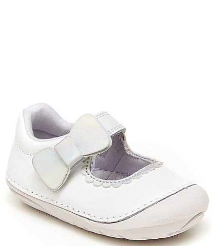 Stride Rite Girls' Soft Motion Makayla Bow Detail Leather Mary Janes (Infant)