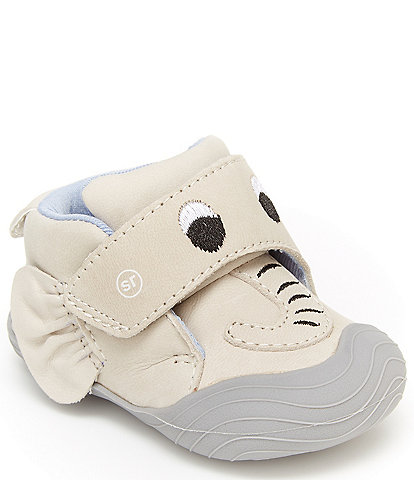 Stride Rite Kids' Campbell Leather Elephant Crib Shoes Infant