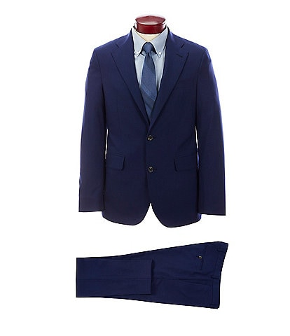 Strong Suit Slim Fit Solid Navy Suit