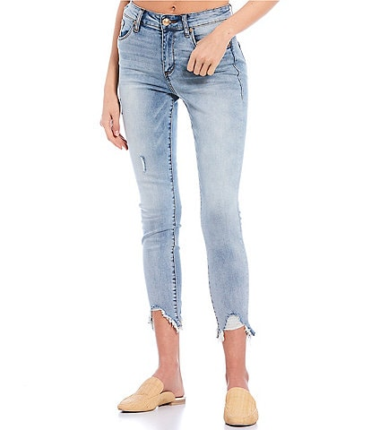 STS Blue Ellie High Rise Cut Off Hem Ankle Skinny Jeans