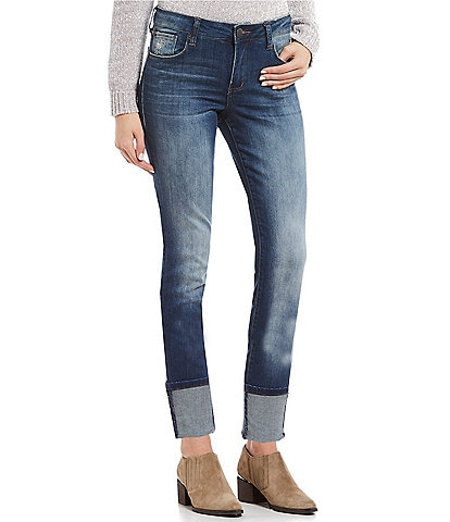 STS Blue High Rise Rolled Cuff Skinny Jeans