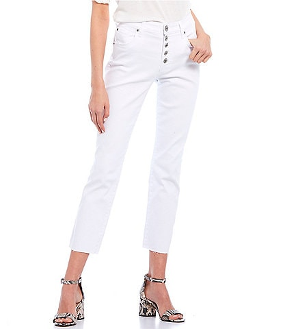 STS Blue Karen High Rise Exposed Button Straight Jeans