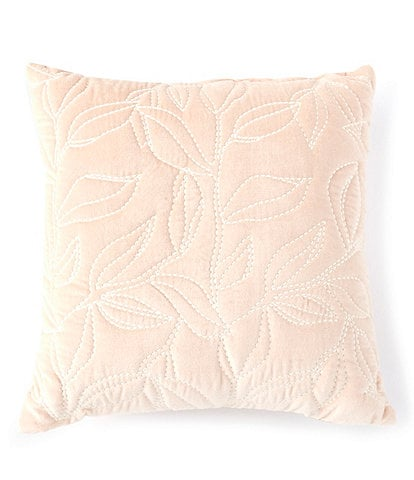 Studio D Floral Embroidered Velvet Square Pillow