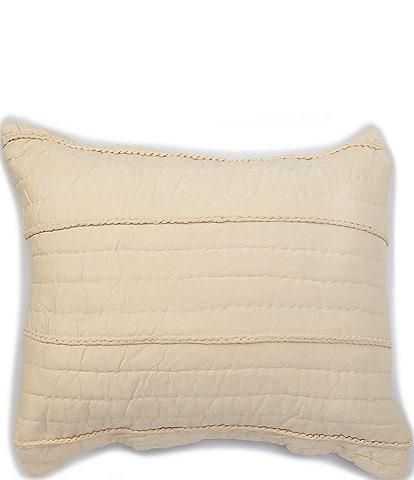 Studio D Haley Braided Cotton Jersey Euro Sham