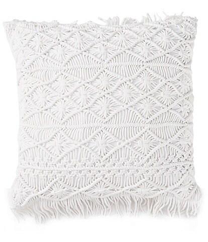 Studio D Macrame Square Pillow