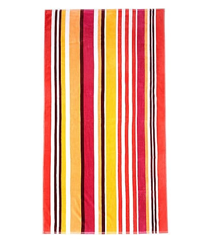 Studio D Outdoor Collection Gum Drop Stripe Terry Velour Beach Towel