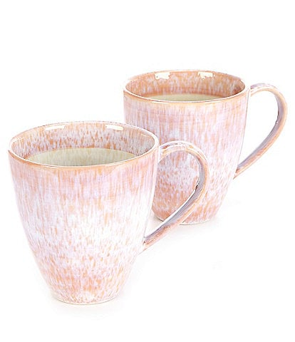 Studio D Stoneware Reactive Mugs, Set of 2