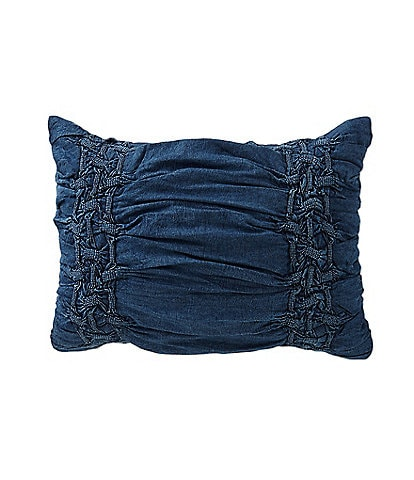 Studio D Trista Ruched Denim Sham