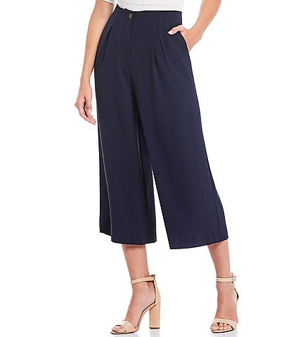 Sugarlips Pleated High Waist Croppped Culotte Pants