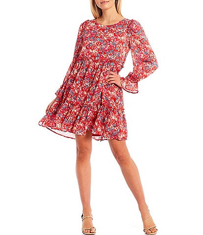 Sugarlips Floral Print Babydoll Dress