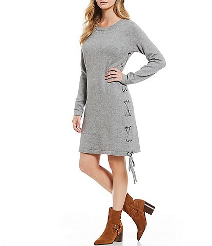 Sugarlips Lace Up Sweater Dress