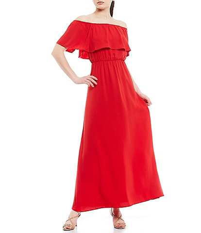 Sugarlips Off-the-Shoulder Maxi Dress