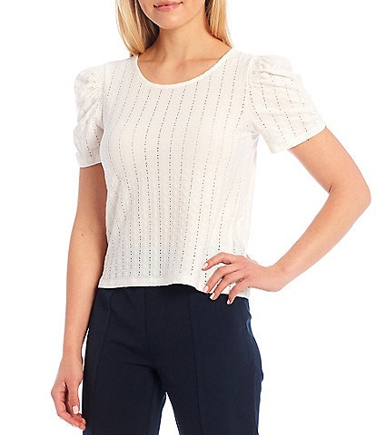 Sugarlips Short Puff Sleeve Knit Top