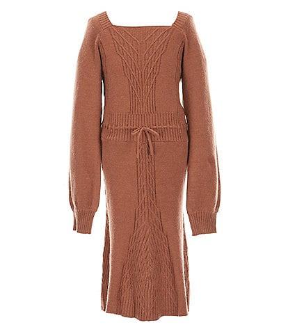 Sundown By Splendid Big Girls 7-16 Tie Front Sweater Dress