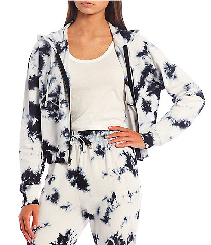 Sundown by Splendid Joey Tie-Dye Zip Front Hoodie