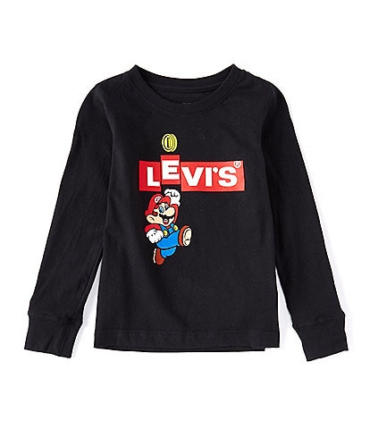 Super Mario x Levi's® Little Boys 4-7 Long-Sleeve Super Mario Box Logo Tee