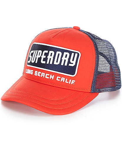 Superdry Embroidered Logo Graphic Trucker Cap