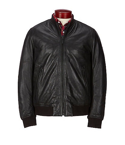 Superdry Leather Fight Bomber Jacket