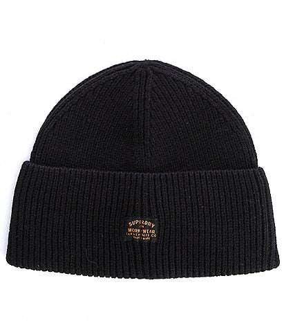 Superdry Radar Cable-Knit Wool-Blend Beanie