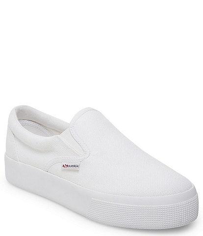Superga 2306 COTU Canvas Slip On Platform Sneakers
