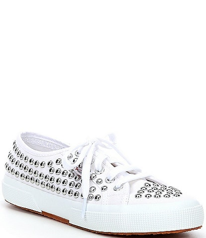 Superga 2750 COTSTUDS1W Lace-Up Studded Detail Sneakers