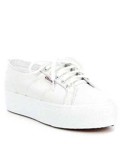 Superga Women's 2790 Nappa Leather Flatform Sneakers