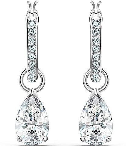 Swarovski Attract Pear Mini Hoop Pierced Earrings