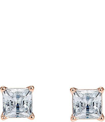 Swarovski Attract Princess Cut Stud Earrings