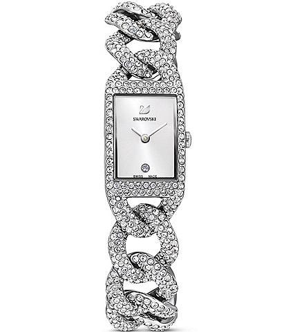 Swarovski Cocktail Silver Bracelet Watch